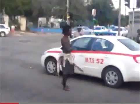Jamaican Police and Mad Man