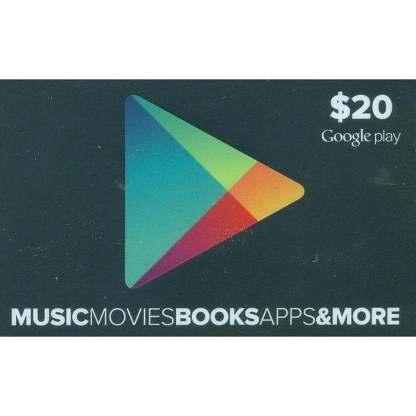 Free US$20 Google Play Gift Card 1