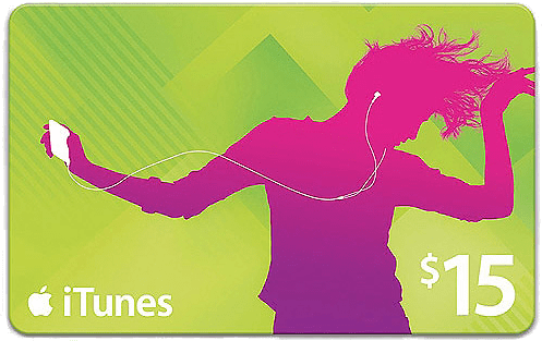 Free US$15 Apple iTunes Gift Card